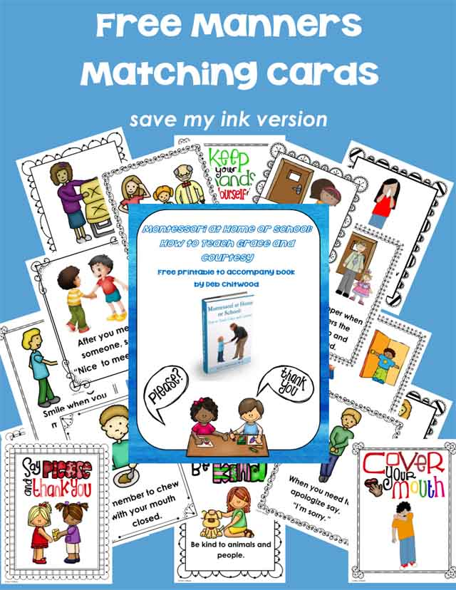 Free Manners Matching Cards