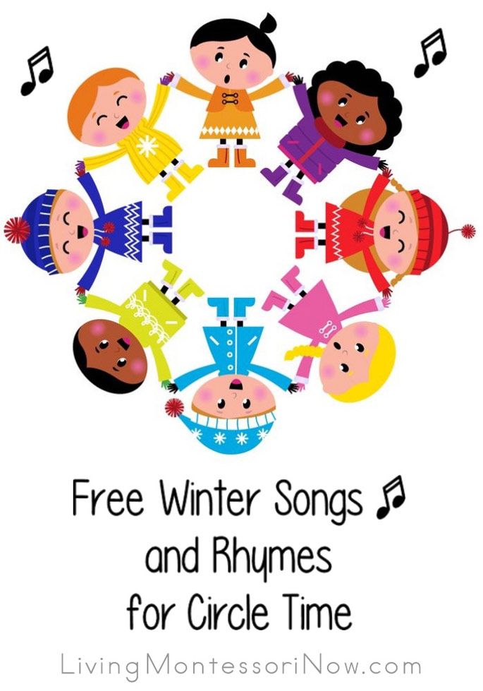 Free winter song videos and winter songs and rhymes with lyrics for multiple ages - perfect for classroom or home!