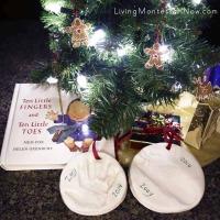 Handprint and Footprint Keepsake Ornaments