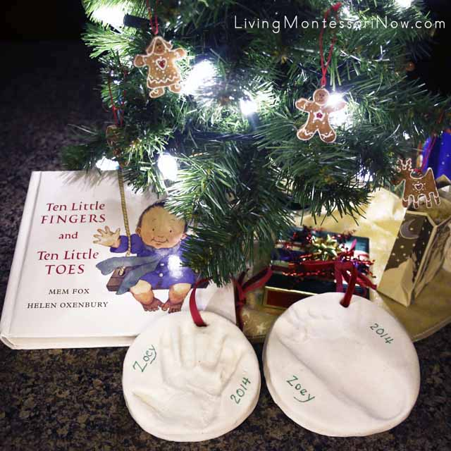 handprint and footprint keepsake ornaments