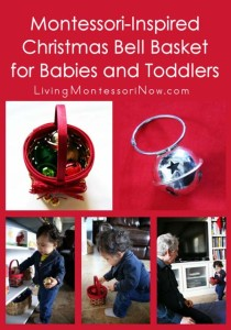 Montessori-Inspired Christmas Bell Basket for Babies and Toddlers