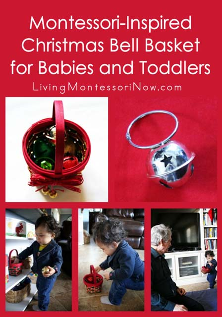 Montessori Monday – Christmas Bell Basket for Babies and Toddlers