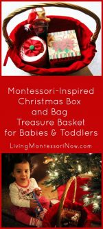 Christmas Box and Bag Treasure Basket for Babies and Toddlers