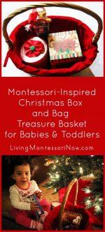 Christmas Box and Bag Treasure Basket for Babies and Toddlers