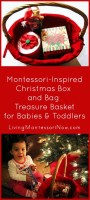 Montessori-Inspired Christmas Box and Card Treasure Basket for Babies and Toddlers