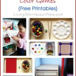 Montessori Monday – Montessori-Inspired Color Games {Free Printables}