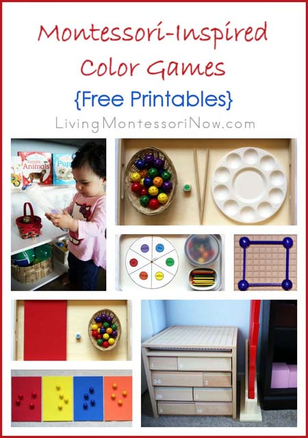 Montessori Monday – Montessori-Inspired Color Games {Free Printables}