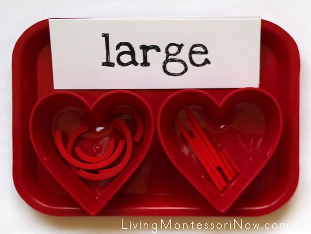 Small/Medium/Large Heart-Building Tray
