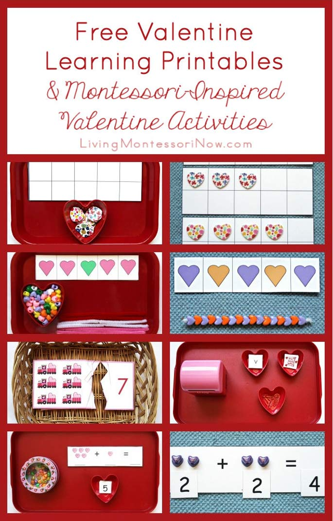 Free Valentine Learning Printables and Montessori-Inspired Valentine Activities