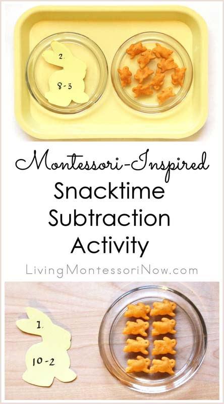 Montessori-Inspired Snacktime Subtraction Activity