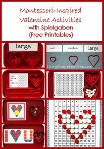 Montessori-Inspired Valentine Activities with Spielgaben {Free Printable}