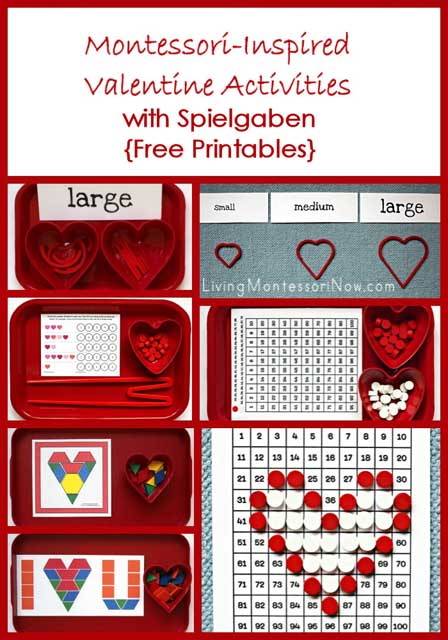 Montessori-Inspired Valentine Activities with Spielgaben {Free Printables}