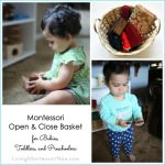 Montessori Open and Close Basket for Babies, Toddlers, or Preschoolers