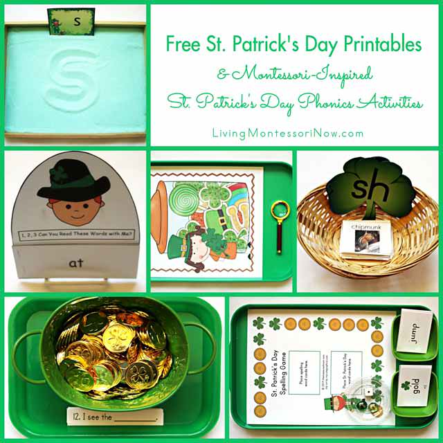 Free St. Patrick's Day Printables and Montessori-Inspired St. Patrick's Day Activities