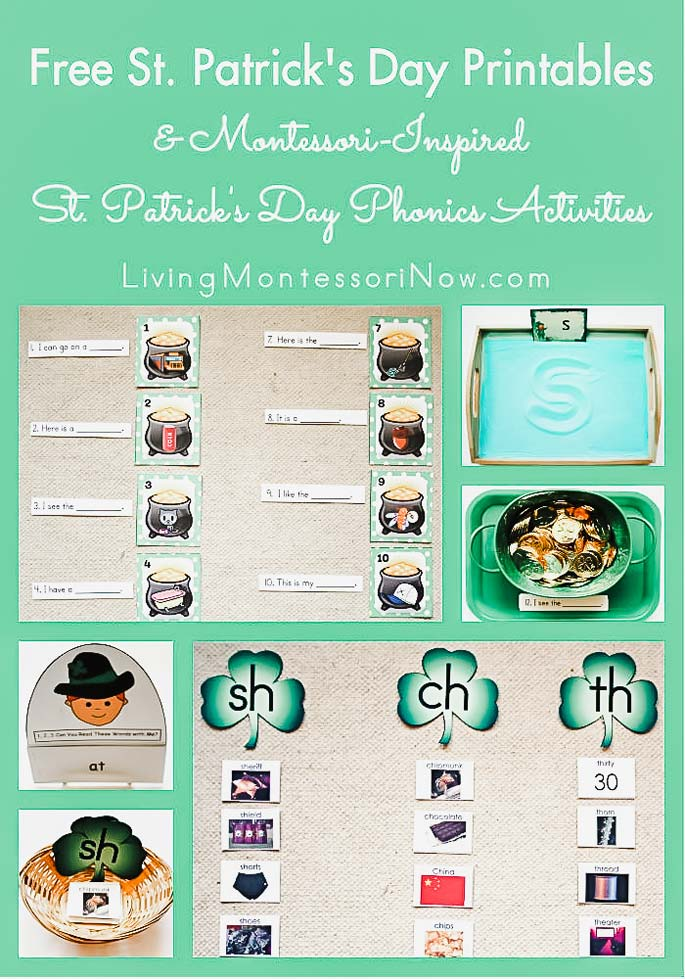 Free St. Patrick's Day Printables and Montessori-Inspired St. Patrick's Day Phonics Activities