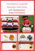 Montessori-Inspired Rainbow Activities with Spielgaben {Free Printables}