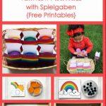 Montessori-Inspired Rainbow Activities with Spielgaben {Free Printables}
