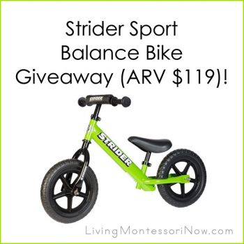 Strider Sport Balance Bike Giveaway
