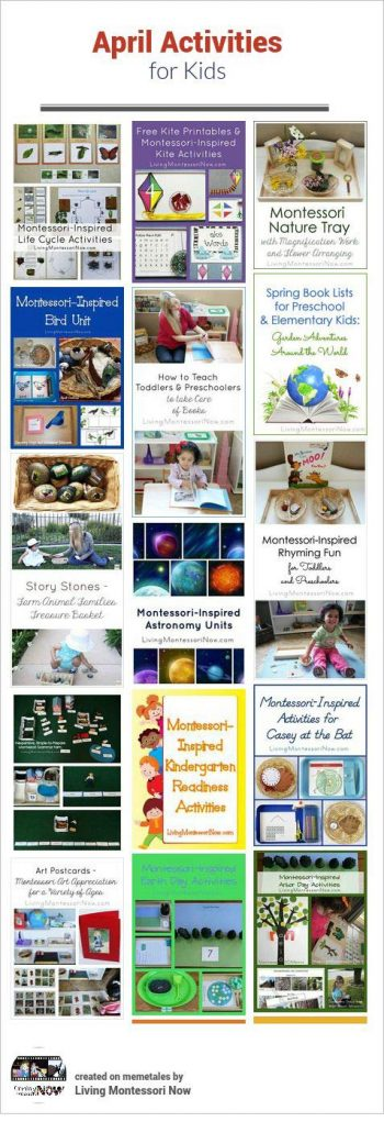 April Themed Activities For Kids Living Montessori Now