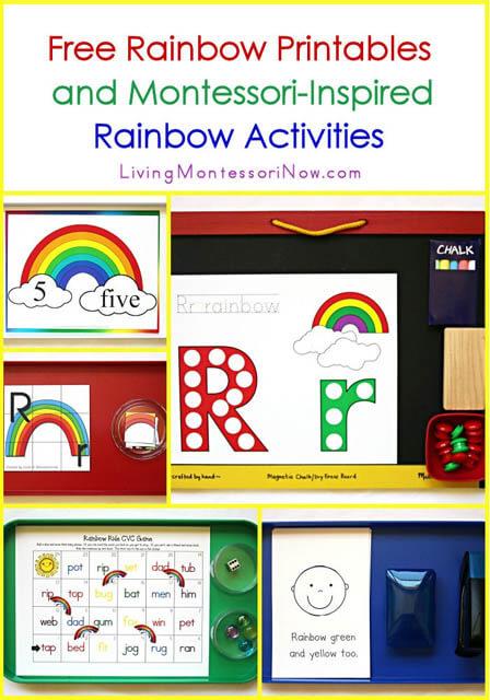 Free Rainbow Printables and Montessori-Inspired Rainbow Activities