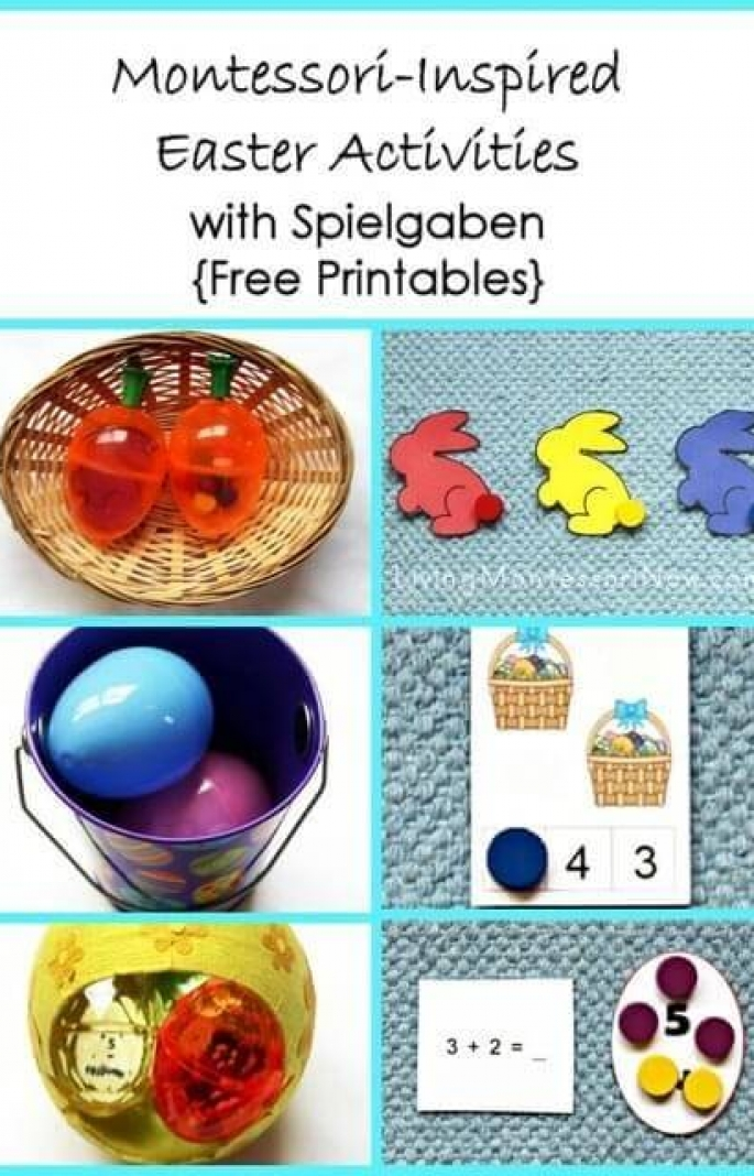 Montessori-Inspired Easter Activities with Spielgaben {Free Printables}