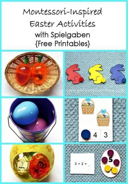 Montessori Monday – Montessori-Inspired Easter Activities with Spielgaben {Free Printables}