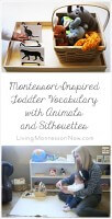 Montessori-Inspired Toddler Vocabulary with Animals and Silhouettes