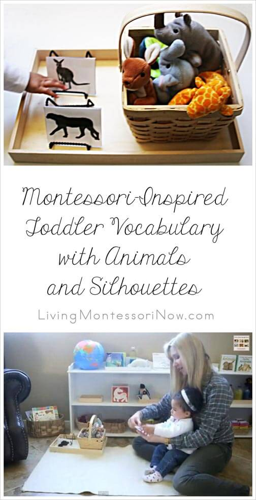 Montessori Monday – Montessori-Inspired Toddler Vocabulary with Animals and Silhouettes