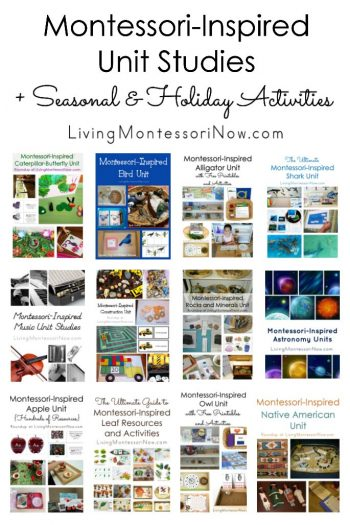Montessori-Inspired Unit Studies + Season and Holiday Activities
