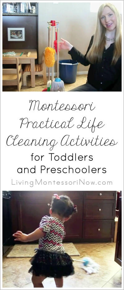 Montessori Practical Life Cleaning Activities for Toddlers and Preschoolers