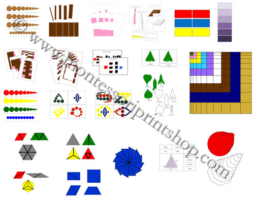 Montessori Print Shop Sensorial Materials - Sample