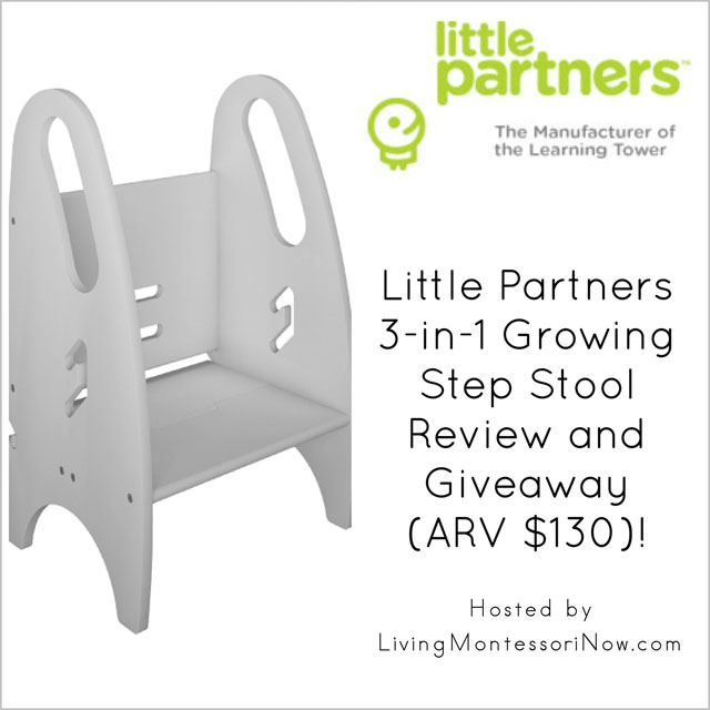 Little Partners 3-in-1 Growing Step Stool Review and Giveaway