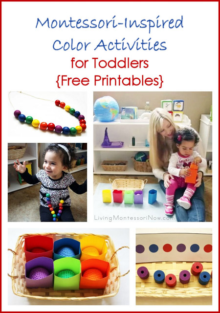 Montessori Monday – Montessori-Inspired Color Activities for Toddlers {Free Printables}