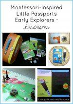 Montessori-Inspired Little Passports Early Explorers Activities – Landmarks