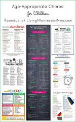Montessori Monday – Age-Appropriate Chores for Children {Free Printables}