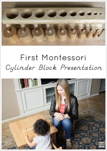 First Montessori Cylinder Block Presentation