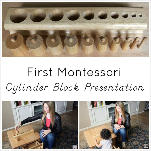 First Montessori Cylinder Block Presentation