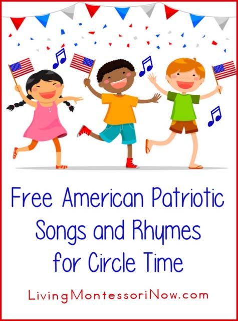 Free American Patriotic Songs And Rhymes For Circle Time on Preschool Worksheets Seasons Chart