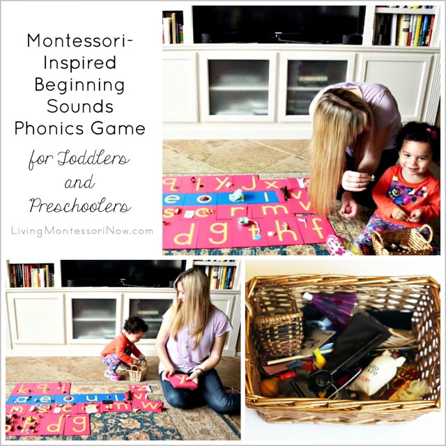 Montessori-Inspired Beginning Sounds Phonics Game for Toddlers and Preschoolers