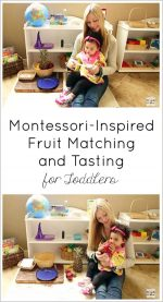 Montessori Monday – Montessori-Inspired Fruit Matching and Tasting for Toddlers