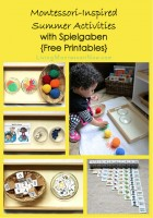 Montessori-Inspired Summer Activities with Spielgaben {Free Printables}