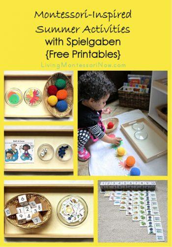 Montessori-Inspired Summer Activities with Spielgaben {Free Printables}