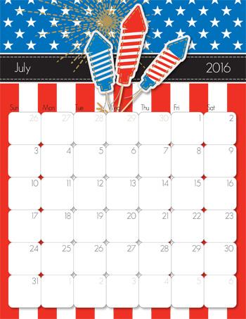 iMOM 2016 Calendar-July
