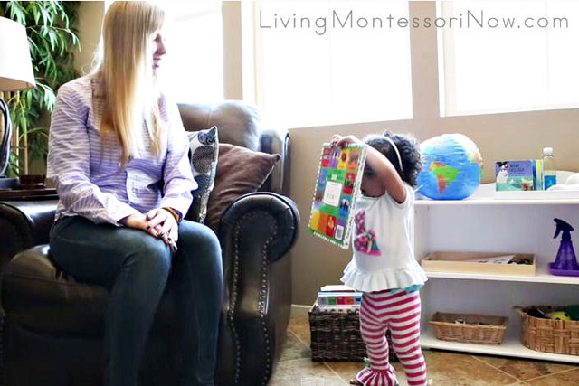 """Asking, """"Read ... please,"""" - 19 months"""