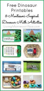 Montessori Monday – Free Dinosaur Printables and Montessori-Inspired Dinosaur Math Activities