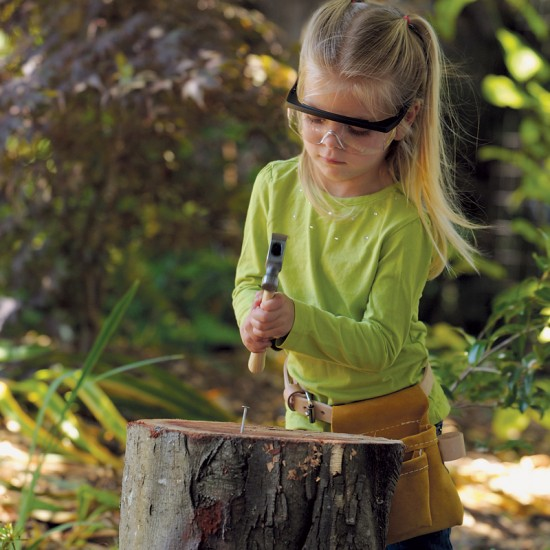 Child-Size Hammer, Safety Glasses, and Tool Belt (Photo from Montessori Services)