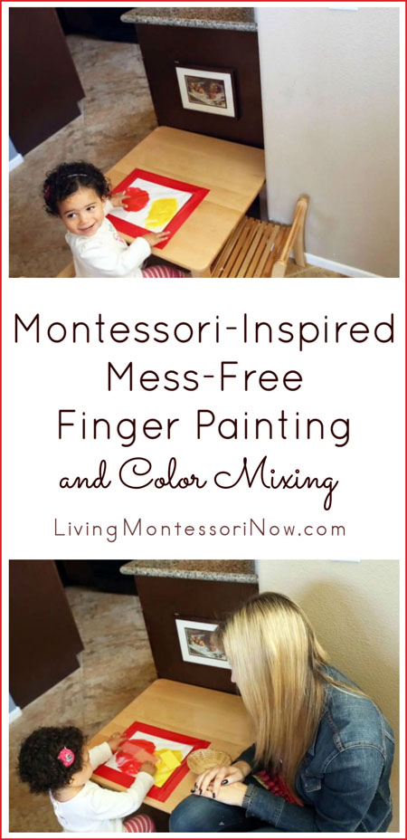Montessori-Inspired Mess-Free Finger Painting and Color Mixing
