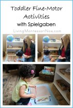 Montessori Monday – Toddler Fine-Motor Activities with Spielgaben