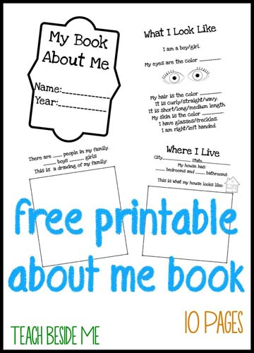 photograph about All About Me Printable Worksheet named All Relating to Me\