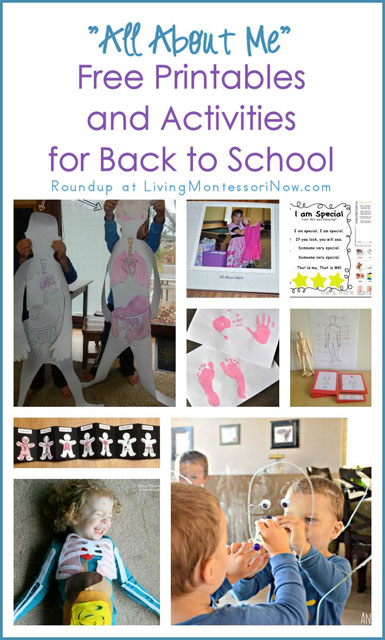 All About Me Free Printables and Activities for Back to School